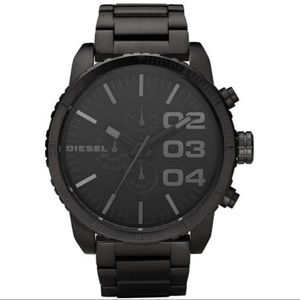 DIESEL BLACK STAINLESS STEEL WATCH DZ4207 LIKE NEW